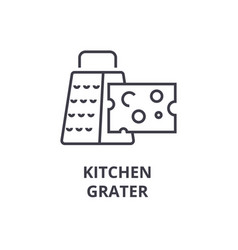 Kitchen grater line icon outline sign linear vector