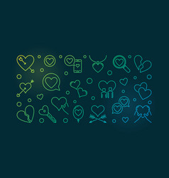 Lovesickness colored outline vector