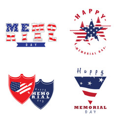 memorial day emblems vector image