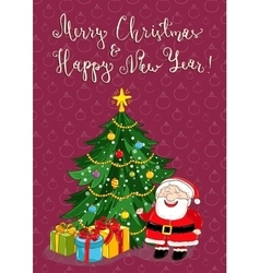Merry Christmas and New Year Holiday Concept vector