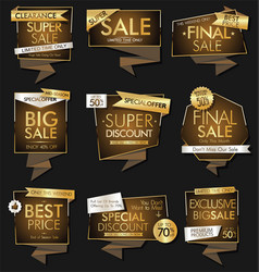 modern luxury sale banners and labels modern vector image