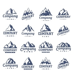 Mountain symbol set vector image