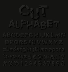 Paper alphabet with cut letters vector image vector image