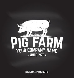 Pig farm badge or label vector