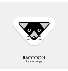 raccoon icon vector image