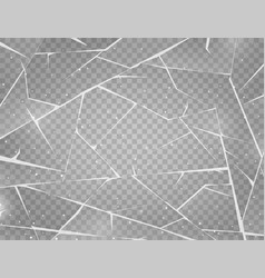 realistic cracked ice surface frozen glass vector image