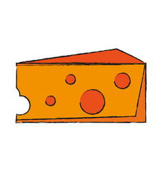 salted cheese food vector image