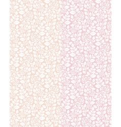 Seamless patterns with roses vector