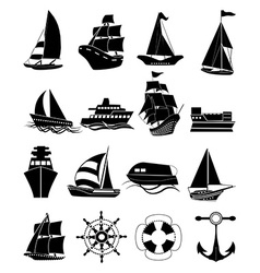 Ships icons set vector