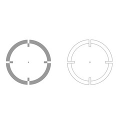 Sight set icon vector