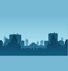 Silhouette a city with a morning atmosphere vector