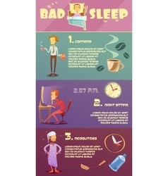Sleep man infographic vector