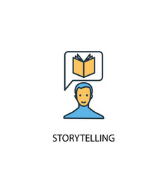 Storytelling concept 2 colored line icon simple vector