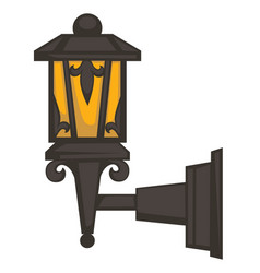 Street lantern or lamp isolated exterior object vector