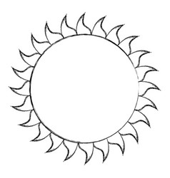 Summer sun weather icon vector
