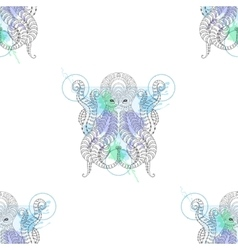 tattoo octopus entangle stylized hand drawn vector image