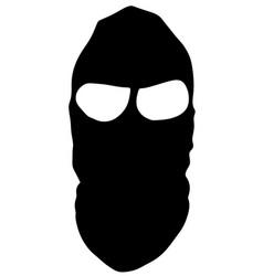 Terrorist mask silhouette robberphantom symbol vector
