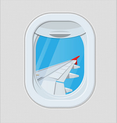 window from inside the airplane vector image