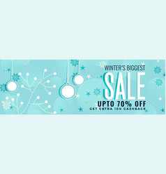 Winter christmas sale banner decoration vector
