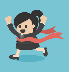 woman business victory vector image