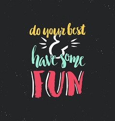 Fun Lettering vector image vector image