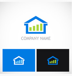 home realty business logo vector image vector image