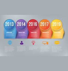 Infographics with 5 steps or options arrows vector