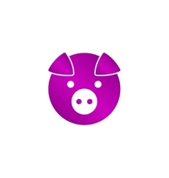 Pig Icon concept for design vector image