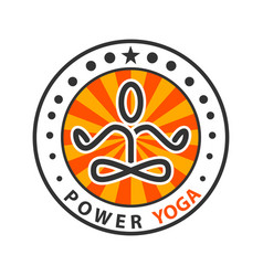 power yoga - meditation vector image vector image