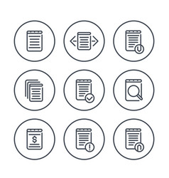 reports account records finance documents icons vector image
