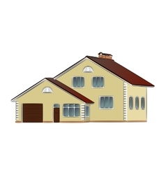 two-storey private house vector image
