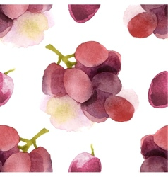watercolor grapes seamless vector image