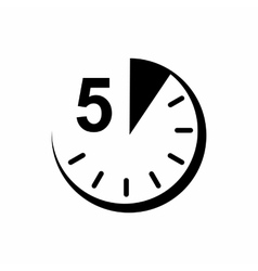 5 minutes icon simple style vector image vector image