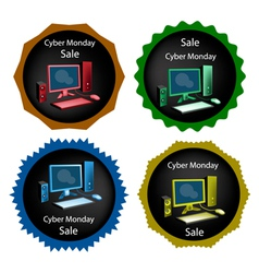 PC Computer on Cyber Monday Sale Background vector image vector image