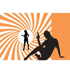 007 bond girls vector image vector image