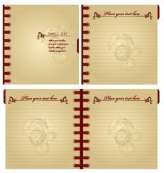 classic notebook vector image