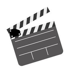 color clapper board film icon vector image