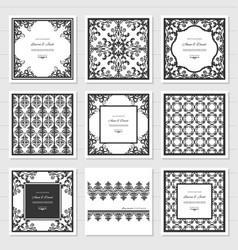 filigree frames and decorative panels set laser vector image