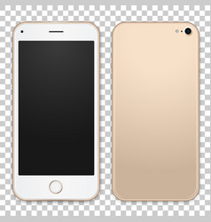 gold mobile phone template with empty vector image vector image