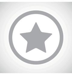 Grey favorite sign icon vector