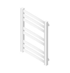 Heater towel rail isometric icon vector image