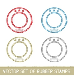Set of rubber stamps vector image
