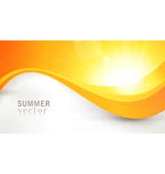 summer sun with wavy pattern and lens flare vector image