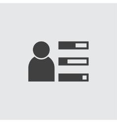User profile icon vector image vector image