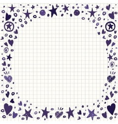 Abstract Background with Hearts and Stars Shapes vector image vector image