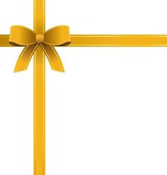 Bow Gold Ribbon vector image