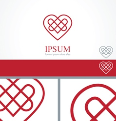 Celtic Heart element concept design template vector image vector image