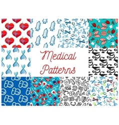 Medical tools medication items seamless pattern vector image vector image