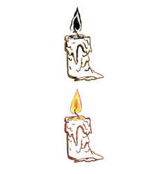 simple linear of candle vector image