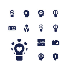 13 inspiration icons vector